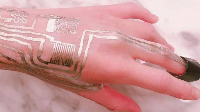 Wearable Tattoo: Scientists Print Sensors Directly Onto Skin Without Heat