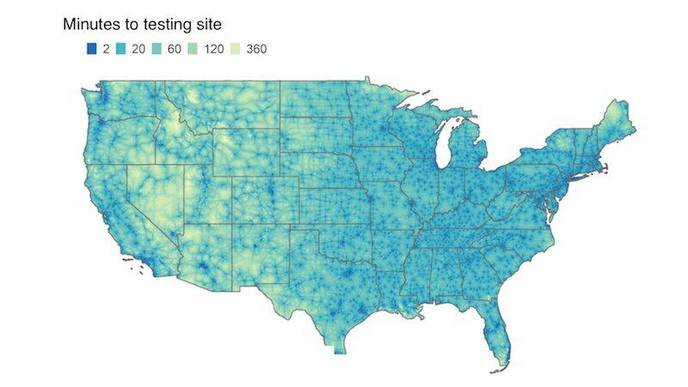 Disparities in Travel Time to COVID-19 Testing Sites May Bias Case Estimates